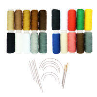 34Pcs/Set Polyester Sewing Thread Quilting Hand Curved Needles All Purpose