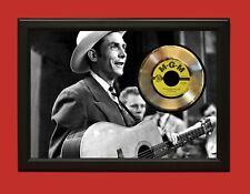 Hank Williams Sr 2 Poster Art Wood Framed 45 Gold Record Display C3