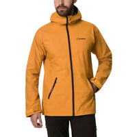 Berghaus Mens Deluge Pro 2.0 Jacket Top - Yellow Sports Outdoors Full Zip Hooded