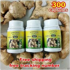 300 Capsules ORGANIC GINGER 100% Zingiber officinales Lowers Blood Pressure