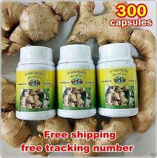 300 Capsules ORGANIC GINGER 100% Zingiber officinales Lowers Blood Pressure