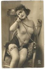 1900s Rare RPPC French Nude Beautiful Woman Lady Girl Must See