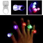 20Pcs LED Finger Ring Light Up Colorful Lights Dance Party Decoration Creative