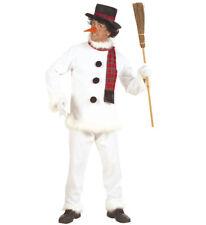 Schneemann Kasack Hose Hut Schal Nase Kostüm Verkleidung Set Winter Größe S