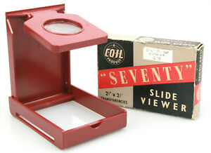 """Portable / Pocket 2.25"""" Slide Viewer """"Seventy"""" Made in England by Coil - Boxed"""