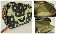 Orla Kiely Gray Floral Makeup Toiletry Travel Bag Case Pencil School Organizer