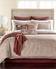 Martha Stewart 14-Piece QUEEN Comforter Set Distressed Damask Mauve L96111