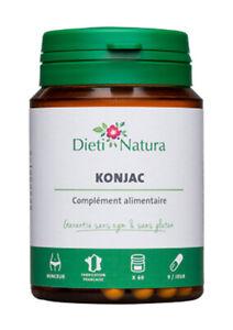 Konjac / Konjak, 200 Kapseln, 420 mg, davon 336 mg Glucomannan, Ballaststoffe