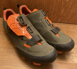 Fi'zi:k Terra X5 Volume Control MTB Shoe EU 44.5 Men's US 11 Green/Orange EUC