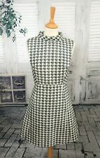 & OTHER STORIES Black & ivory Silk blend fit & flare dress size 6