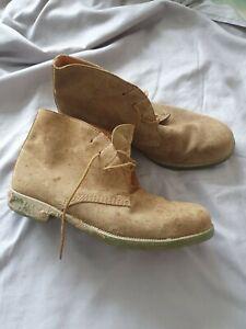 Ww2 German/british Sand Ankle Boots