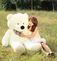 31.4'' Giant Beige Plush Teddy Bear Cute Romantic Toy Soft Cotton Pillow Doll ^^