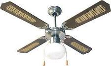Ventilatore da soffitto Domus Country Noce 3 velocità 105 cm 70 W con luce