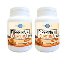 PIPERINA e CURCUMA Più, Plus al dimagrimento e metabolismo. OFFERTA per 2 mesi.