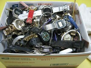 Nice 12 Pound Lot of Untested Watches for Parts, Repair, Resale or Wear - CD