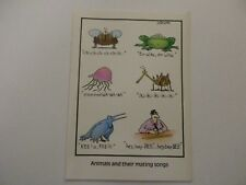 """Vintage """"The FAR SIDE"""" 1983 Greeting Card """"Animals & Mating Songs""""  NEW MINT"""