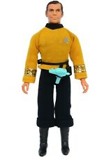 """Vintage 1974 Mego Star Trek Capt James T Kirk 8"""" T2 Action Figure w/Phaser"""