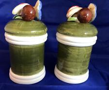 Vintage Country Casuals Mushroom Top Salt & Pepper Porcelain Shakers Japan