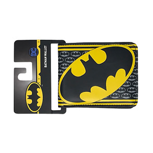 DC Comics Batman Logo Black Men's Bifold Wallet