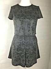 Cotton Club NEW BNWT Two Piece Skirt and Top Grey Animal Print Size 10 Mini A652