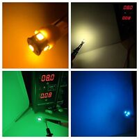 (10) LED 8V WEDGE BASE LAMPS-RECEIVER BULBS- Pioneer Project/One-COLOR CHOICE !!