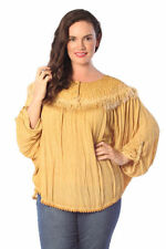 Batwing, Dolman Sleeve Solid Plus Size Tops & Blouses for Women