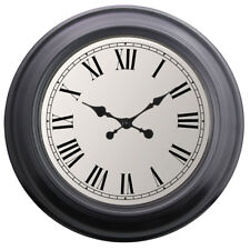 52CM Extra Large Wall Clock Oversize Statement Modern Black Roman Numeral