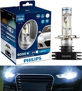 Philips X-Treme Ultinon LED 6000K H4 Two Bulbs Head Light Dual Beam Replace OE