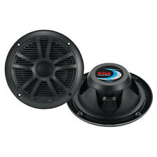 "Boss Audio MR6B 6.5"" Dual Cone Marine Coaxial Speaker (Pair) - 180W - Black MR6B"