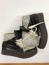 Jeffrey Campbell Ibiza Last Womens 7 Animal dotted brown ankle sneaker boots #9