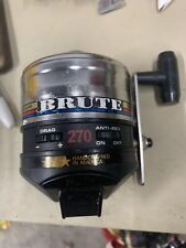 "Vintage 1994 Zebco 270 Brute Reel Metal Foot Made in Usa Rare! "" Free Shipping """