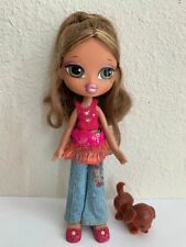 Girlz Girl Bratz Kidz Kid Yasmin Doll 7 in Olive Eyes Original Clothes Shoes Pet