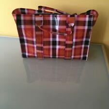 New ZARA Multicolor Plaid Plastic Bag