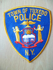 Patches: TOWN OF TUXEDO NEW YORK POLICE PATCH (New,appx.4.11x3.14 inc)