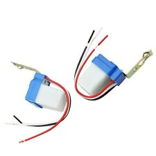 2PCS Automatic Auto On Off Street Light Switch Photo Control Sensor for AC 110V