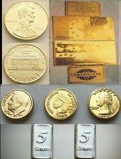 Lotto di Banconota da 100 Euro Monete D'oro in fdc 24k e Lingotti d'argento puro