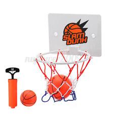 Mini Basketball Hoop System Kids Goal Over The Door Indoor Sports w/Ball Pump