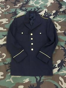 US ARMY UNIFORM COAT DRESS BLUE JACKET ENLISTED GOLD BUTTONS