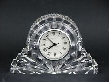 Waterford Large Crystal Silver Rim Cottage, Mantle or Desk Clock - From Ireland