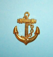Pendant Anchor Charm Gold Plated Nautical Charm Boat Charm Pirate Mermaid Charm