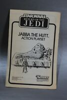 INSTRUCTIONS VINTAGE STAR WARS JABBA THE HUTT ACTION PLAYSET KENNER insert