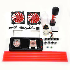 PC Water Cooling Complete Kit CPU GPU Blocks Pump 240mm Radiator 200mm Reservoir