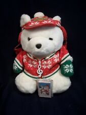 "1992 Dayton Hudson Santa Bear 18"" - Santabear Sing-a-Long Tape and shopping bag"