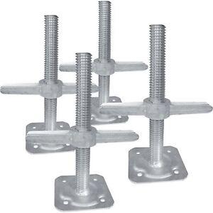 Metaltech Adjustable Leveling Jacks- 4-Pk For Baker-Style Scaffolding