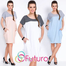 Plus Size Scoop Neck Casual Jumper Dresses for Women