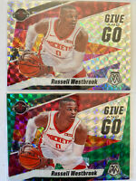 2019-20 MOSAIC RUSSELL WESTBROOK GIVE AND GO PRIZM INSERT CARD LOT