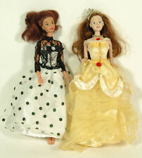 2 Barbie Disney mattel Bambole collezione principesse pixar figure- E3