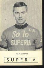 Rik VAN LOOY Cyclisme 60s Cycling Ciclismo Wereldkampioen SOLO SUPERIA radsport