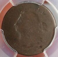 1808 Draped Bust Half Cent Mint Error Full Brockage OBV. Cohen 3 PCGS FR-02