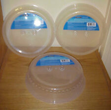"""3 pc  MICROWAVE 10"""" SPLATTER SHIELDS / PLATE COVERS New Free Shipping"""